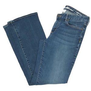 Eddie Bauer med wash slightly curvy boot cut jeans